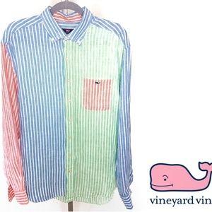 Vineyard Vines Classic Fit 100% Linen Button Down
